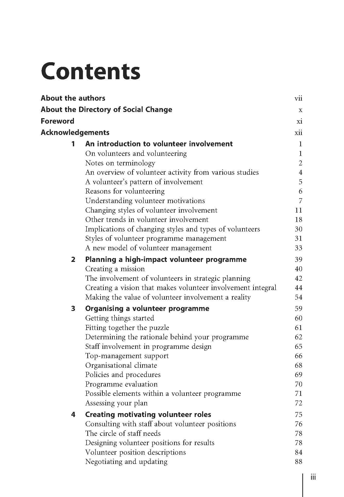 employee handbook contents list