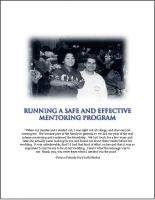 Running a Safe and Effective Mentoring Program