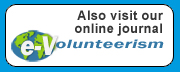 Also visit our online journal  e-Volunteerism